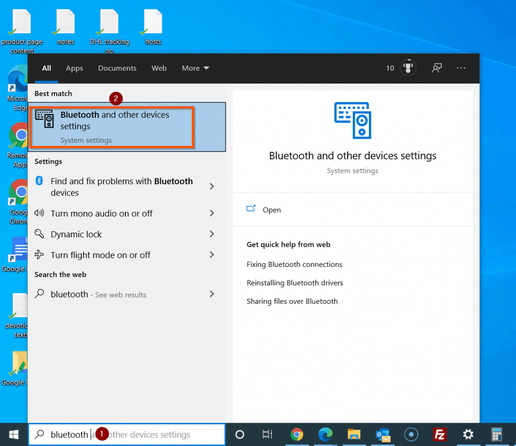 Fix Connections To Bluetooth Audio Devices And Wireless Displays In Windows 10 - Check That Bluetooth Is Turned On - how to turn on Bluetooth in Windows 10