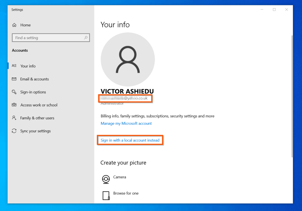 Wondering How To Sync Your Settings In Windows 10? - Sign In With A Microsoft Account