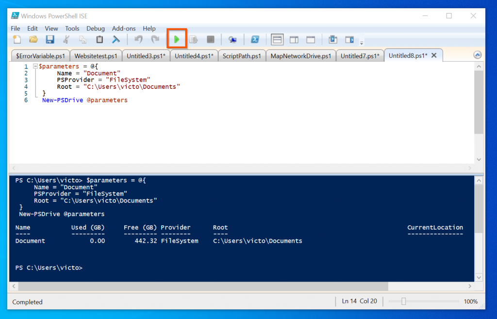 How To Map A Drive Using PowerShell Hashtable