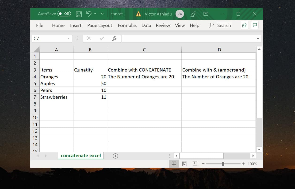 Concatenate Excel How to Concatenate Join Columns and Strings