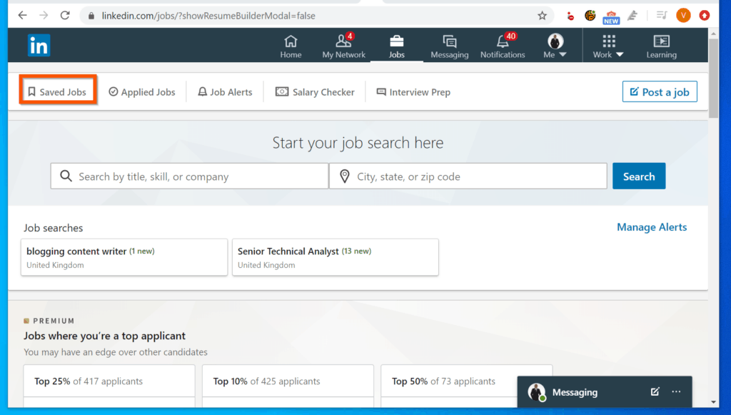 How to View LinkedIn Saved Jobs from LinkedIn.com