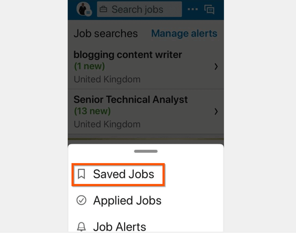 How to View LinkedIn Saved Jobs from the iPhone App